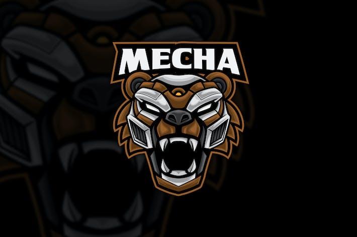 Thumbnail for Mecha Bear Robot Esport Logo Mascot
