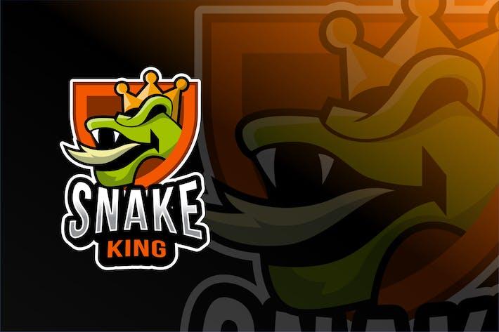 Thumbnail for Snake King Esport Logo Template