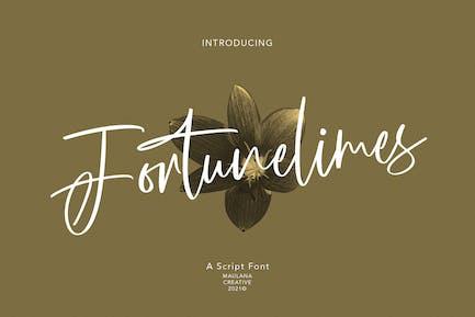 Fortunelimes Script Font