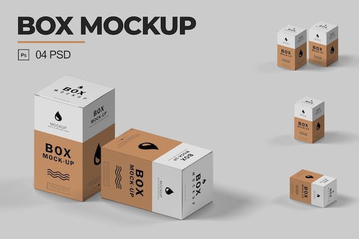 Thumbnail for Isometric Box Mockup