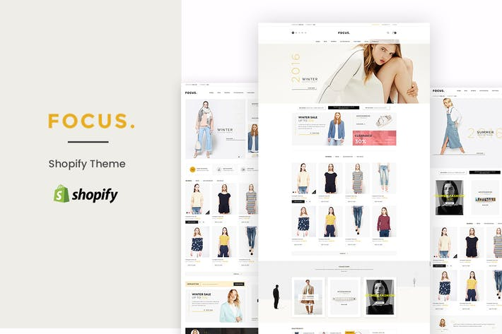 Cover Image For Focus - Responsive Shopify Theme