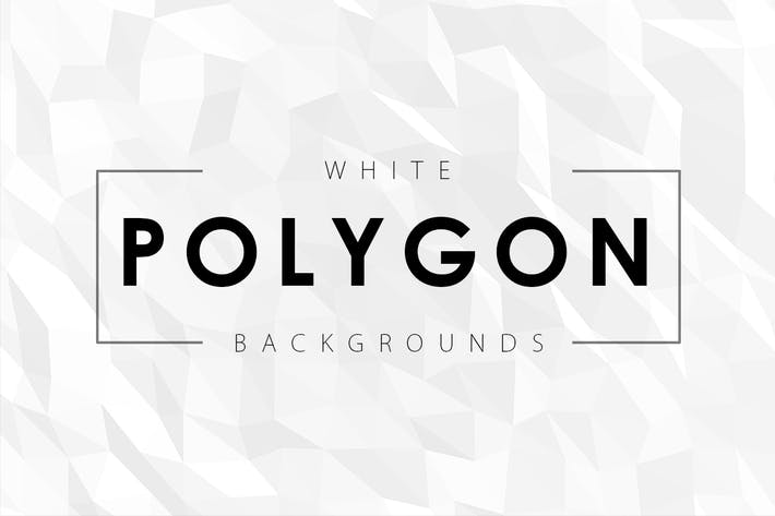 Thumbnail for 12 White Polygon Backgrounds
