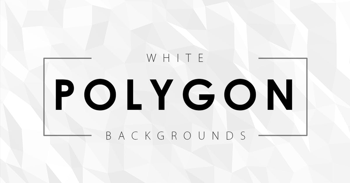 Download 12 White Polygon Backgrounds by M-e-f