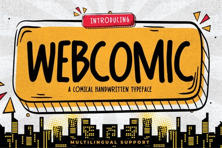Webcomic - Comical Handwritten Typeface