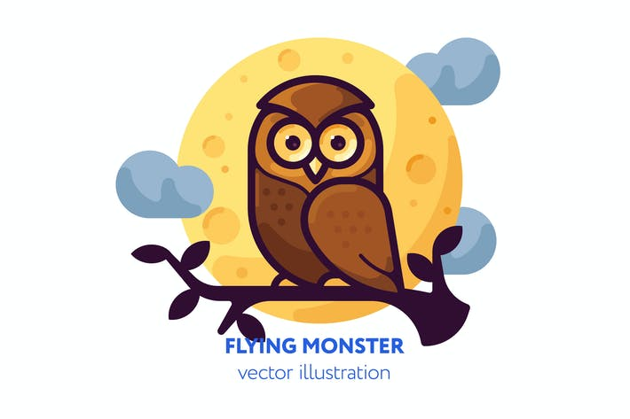 Thumbnail for Owl vector illustration