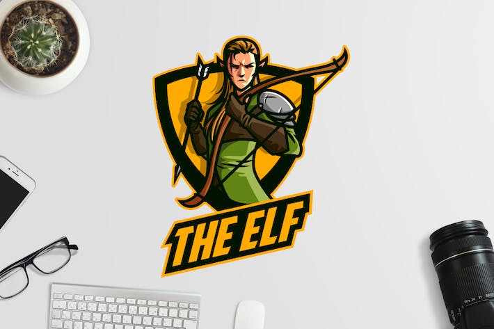 Thumbnail for Esports Elf Archer Logo