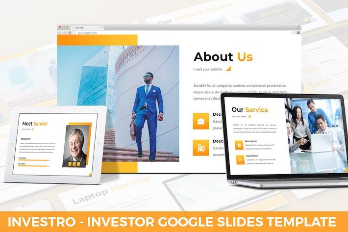 Thumbnail for Investro - Шаблон слайдов для инвесторов Google
