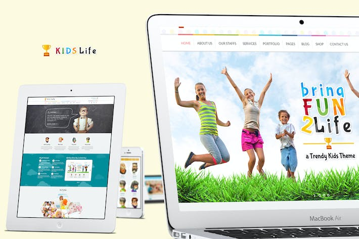Cover Image For Kids Life - A Trendy Kids HTML Template