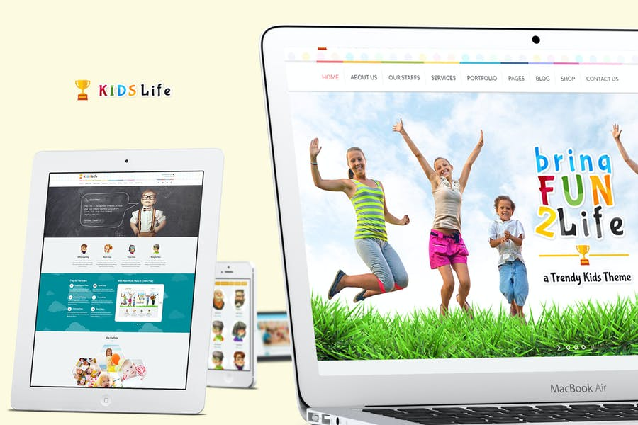 Kids Life - A Trendy Kids HTML Template
