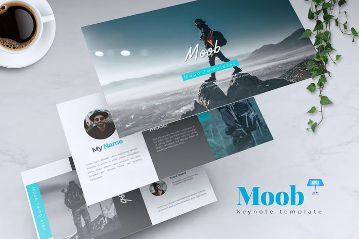 Cover Image For MOOB - Creative Keynote Template