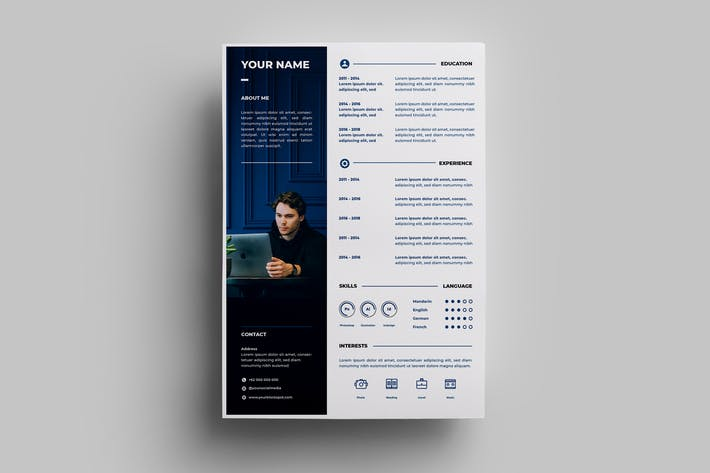Thumbnail for Resume Design Templates.05