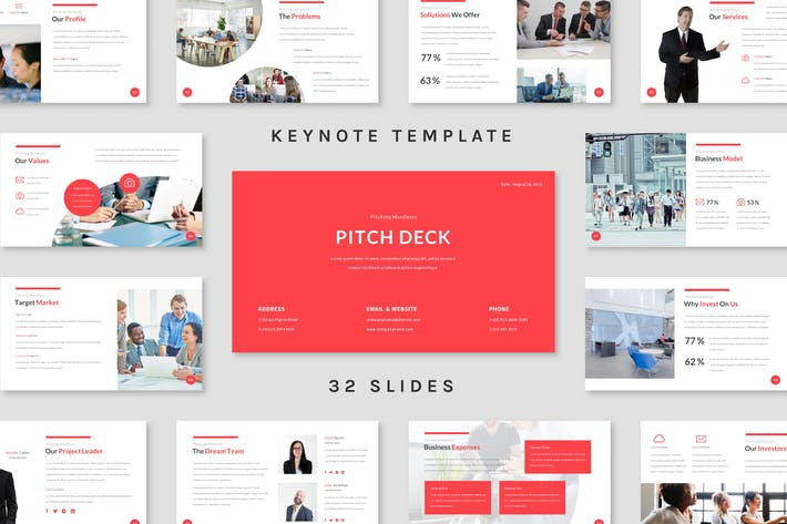 Thumbnail for Pitch Deck - Keynote Template