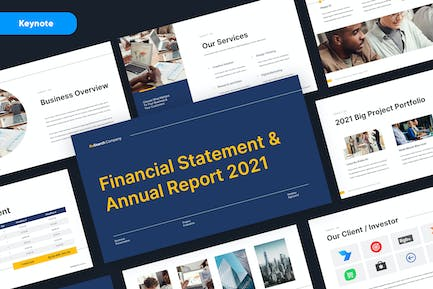 Business Corporate Annual Report Keynote