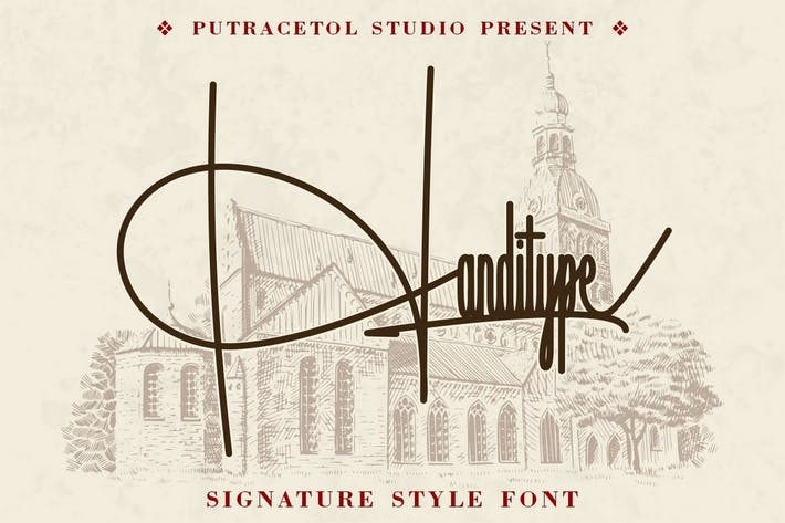 Thumbnail for Handitype - Signature Style Font