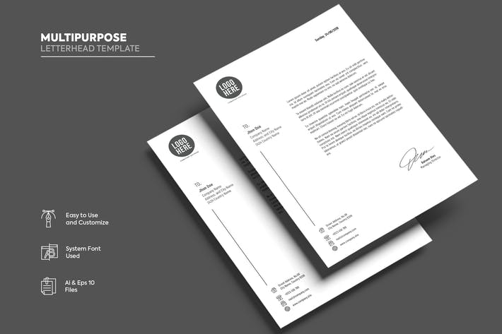 Thumbnail for Letterhead Template Vol. 12