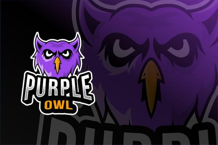 Thumbnail for Purple Owl Esport Logo Template