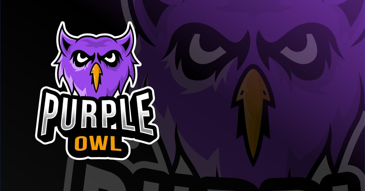 Download Purple Owl Esport Logo Template by IanMikraz
