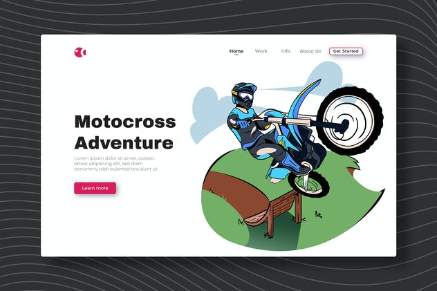 Motocross Adventure - Landing Page