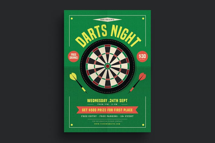 Cover Image For Darts Night Flyer