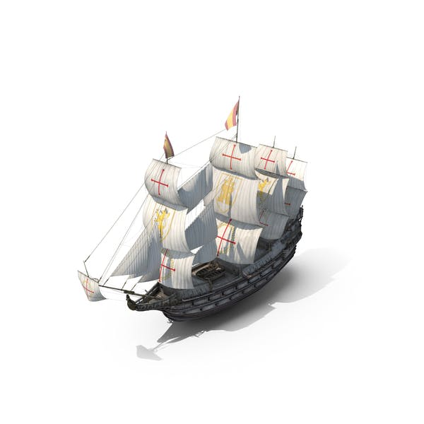 Thumbnail for Galleon Old Historical Sail Ship