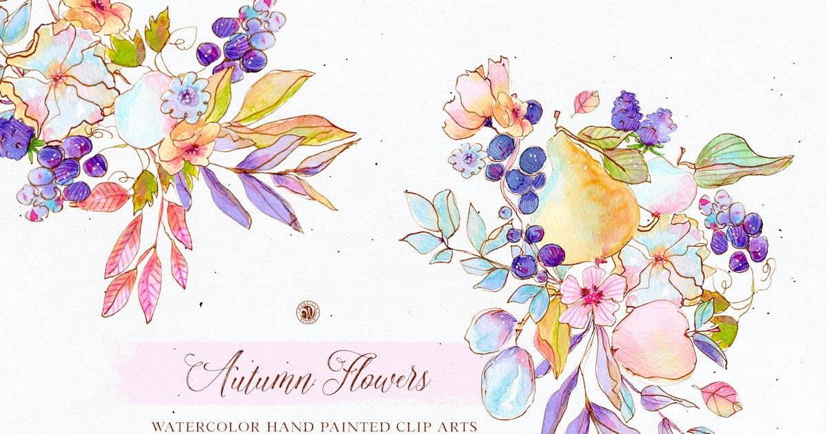 Download Autumn Flowers - watercolor set by Webvilla