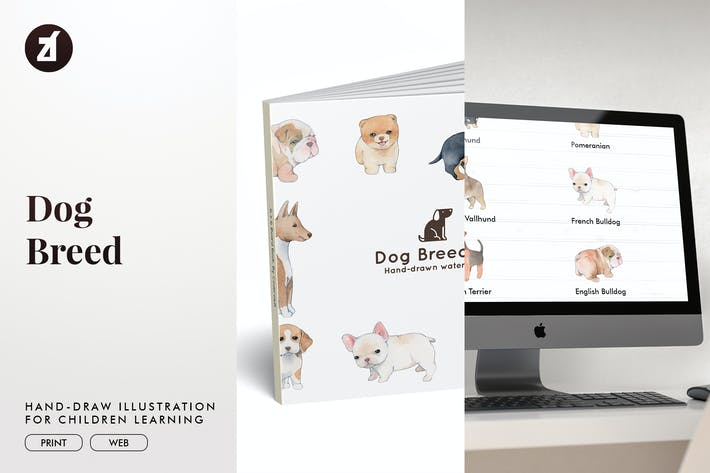 Thumbnail for Dog Breed hand-drawn illustration for children