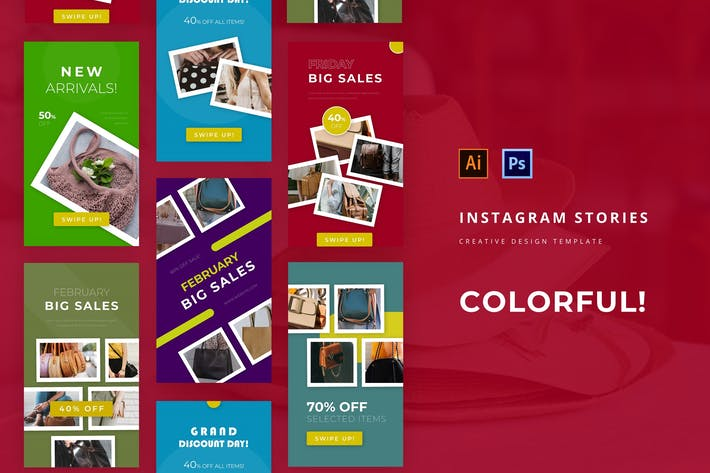 Thumbnail for Colorful Instagram Story Template