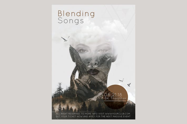 Thumbnail for Blending Songs Flyer Poster