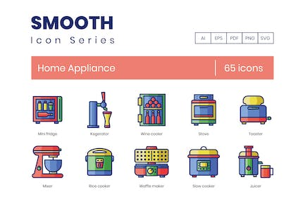 65 Home Appliance Smooth Icons