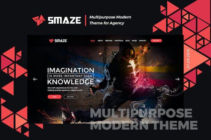 Thumbnail for Smaze | Multipurpose Material Design HTML Template