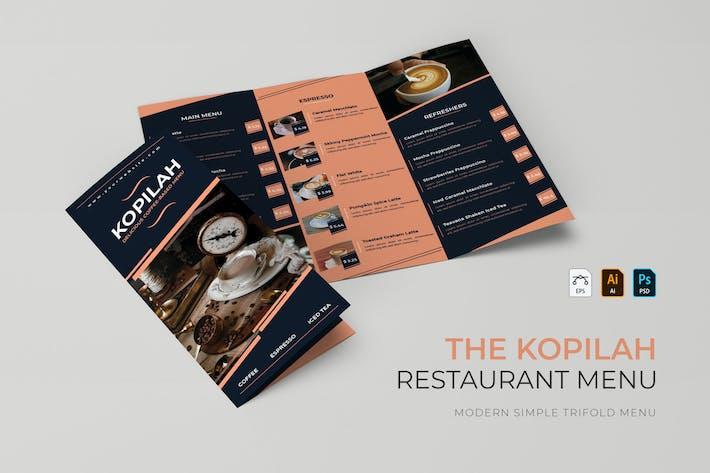 Kopilah | Restaurant Menu