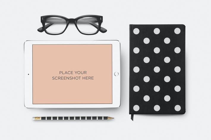 Thumbnail for iPad Mockup Scene Generator - Dots