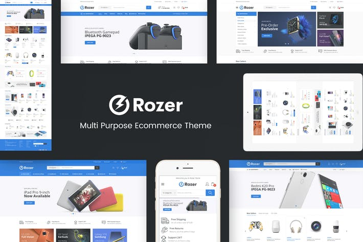 Thumbnail for Rozer - Thème Prestashop Digital Responsive