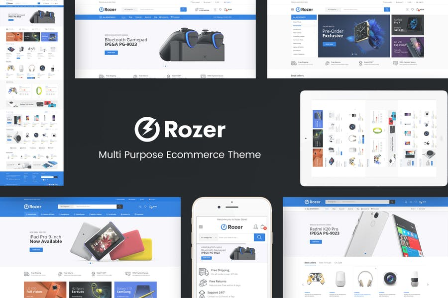 Rozer - Thème Prestashop Digital Responsive