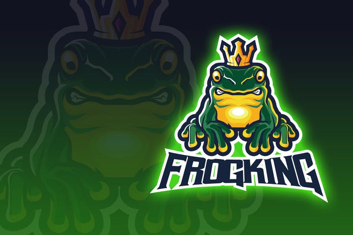 Thumbnail for Frog King Esport Logo