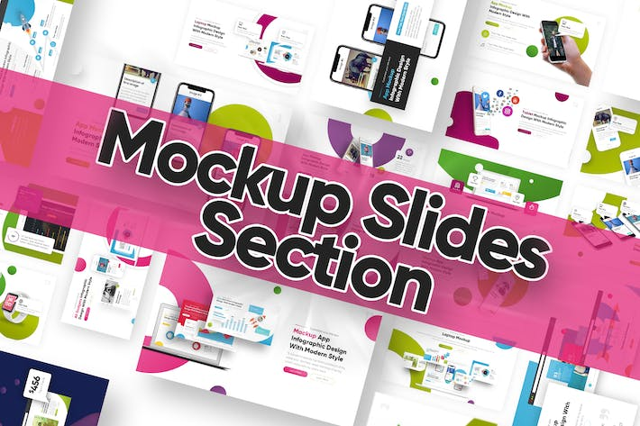 Mock Up Slide Section Powerpoint Template