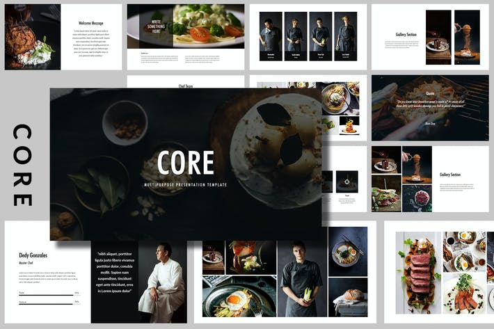 Thumbnail for Core - Food Powerpoint Template