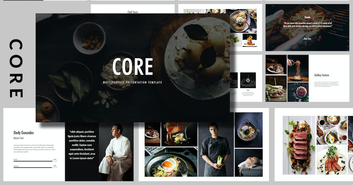 Download Core - Food Powerpoint Template by putra_khan
