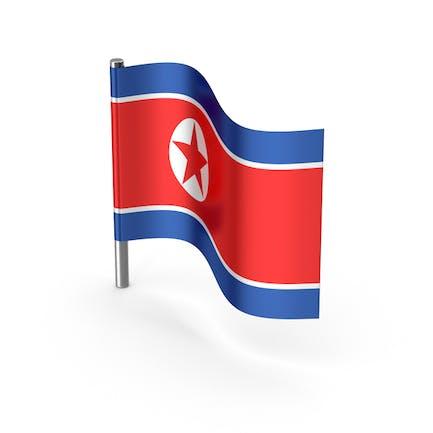 Nordkorea-Flagge