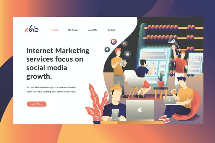 Thumbnail for Internet & Social Media Marketing - Landing Page