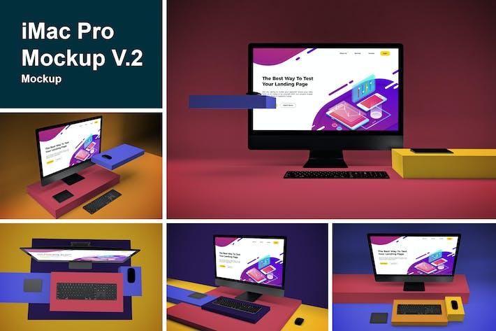 Cover Image For iMac Pro Mockup V.2