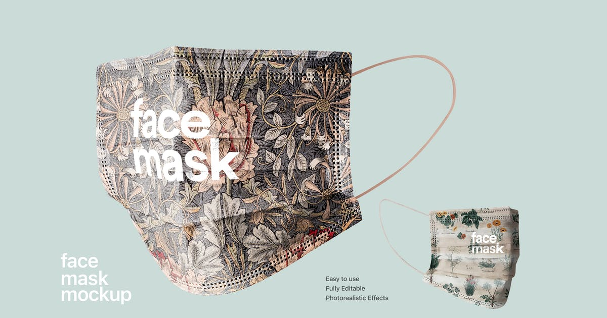 Download Face Mask Mockup by itscroma