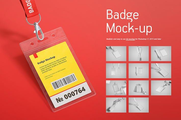 Thumbnail for Name Tag / Badge Mock-up