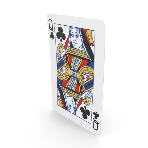 Playing Cards Queen of Clubs