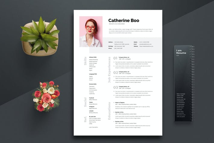 Thumbnail for Resume / CV Template 05