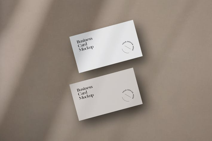 Schwebende Visitenkarten-Mockup mit Schatten-Overlay
