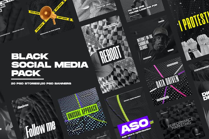 Thumbnail for Black Social Media Pack