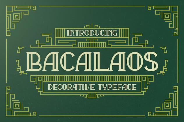 Bacalaos - Decorative Display Font