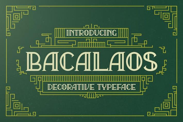 Thumbnail for Bacalaos - Decorative Display Font