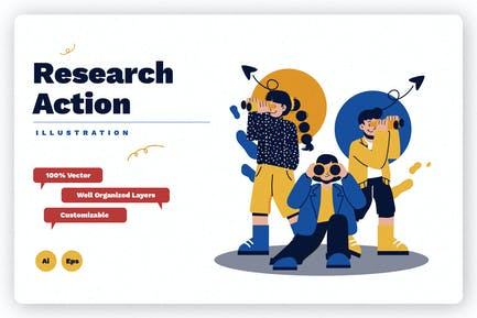 Research Action Illustration
